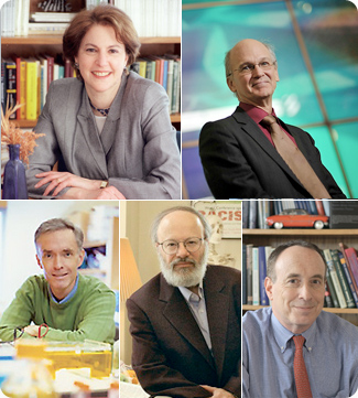 The University's first five William Fairfield Warren Distinguished Professors