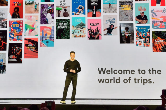 "LOS ANGELES, CA - NOVEMBER 17: Airbnb founder/CEO Brian Chesky speaks onstage at ""Introducing Trips""  disclose at Airbnb Open LA on November 17, 2016 in Los Angeles, California. (Photo by Stefanie Keenan/Getty Images for Airbnb)"