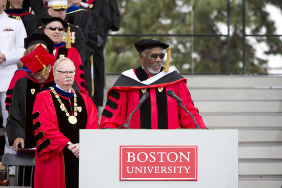 Morgan Freeman, Honorary Degree, Boston University 140th Commencement Ceremony