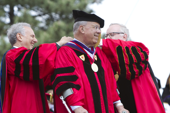 Mayor Thomas M. Menino receives Boston University Medallion, Boston University 140th Commencement Ceremony