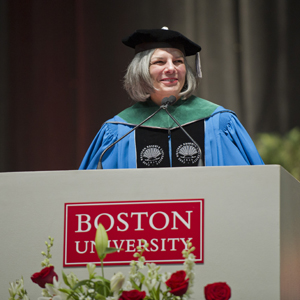 Julie Gerberding, first woman to head the Centers for Disease Control, Merck Pharmaceuticals, Boston University BU School of Public Health SPH Convocation 2013