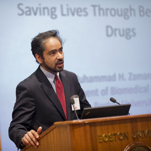 Muhammad Zaman, assistant professor, Boston University College of Engineering ENG, PharmaCheck, contaminated drug detector, counterfeit drug detector, drug quality detector, drug purity detector