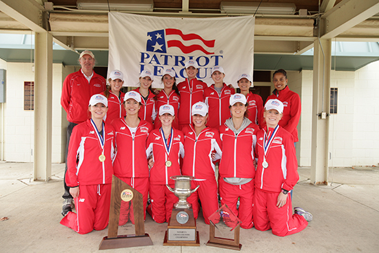 Patriot League Championship, women's cross country team, head coach Bruce Lehane