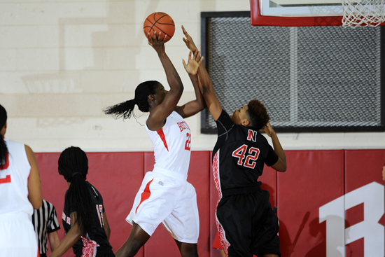 Boston University BU, womens basketball, athletics, terriers, America East All-Conference Team, Tricaptain Rashidat Agboola