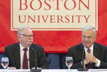 Boston University BU, Mayor Thomas M. Menino, codirector Initiative on Cities, BU's Frederick S. Pardee Center for the Study of the Longer-Range Future, Thomas M. Menino Scholarship Program