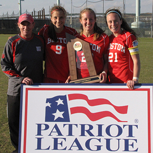 Boston University BU, womens soccer, coach Nancy Feldman, Patriot League championship, terriers, BU athletics