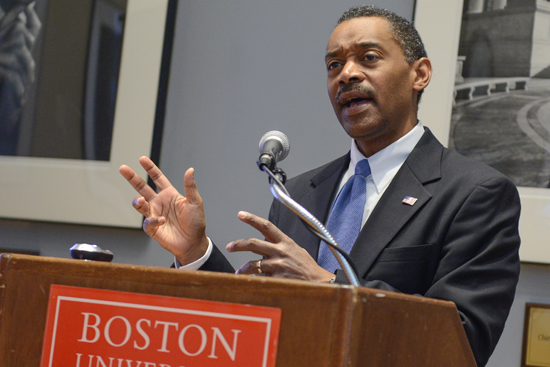 Jonathan Woodson, assistant secretary of defense for health affairs, Tenth Annual Pike Lecture on Health Law, Boston University, School of Public Health, SPH, BU School of Law, LAW