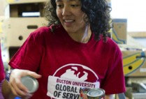 Boston University BU, global days of service, community service volunteer, Greater Boston Food Bank