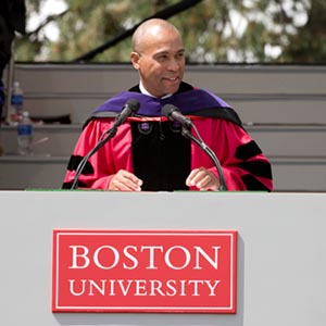 Massachusetts Govenor Deval Patrick, 141st Boston University BU commencement speaker