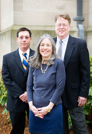 Boston University Perkins Award Winners, Gregory DeFronzo, Christine Paal, and Joel Sparks