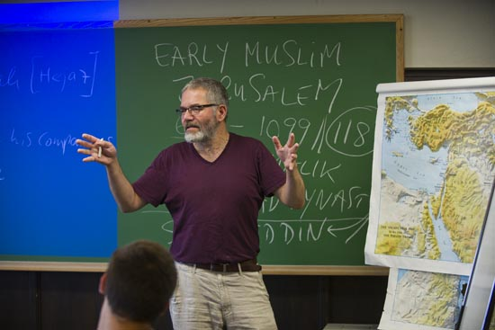 Boston University BU, College of Arts and Sciences CAS, religion, summer course Holy City: Jerusalem in Time, Space, and the Imagination class, professor of religion Michael Zank, director of the Elie Wiesel Center for Judaic Studies