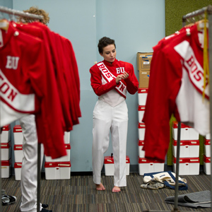 Boston University marching band uniforms