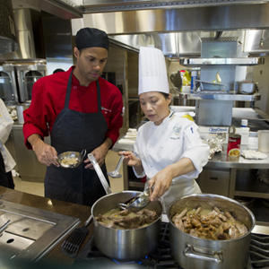 Boston University BU dining services, culinary institute of arts CIA, asian cuisine foods, dining halls