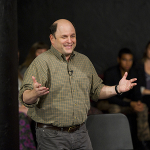 Boston University BU, College of Fine Arts, School of Theatre, Jason Alexander lecture, acting students, Seinfeld
