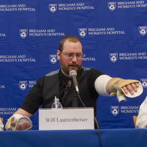 Boston University BU, Will Lautzenheiser, alumni, arm transplant