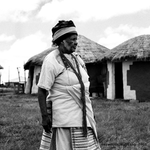 Xhosa woman and grandson