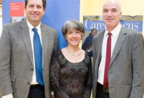 Darrell Kotton, Connie Phillips and Tom Bifano, winners of Massachusetts Life Sciences Center Capital Grant Awards