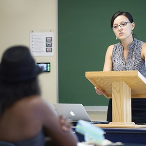 Prof. Janice Iwama teaches a MET course on criminal justice that focuses on race