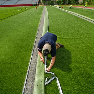 New turf on Boston University's Nickerson Field 2015