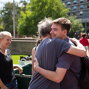 Stock images of returning students and new students back on campus for the fall semester on August 29, 2015.
