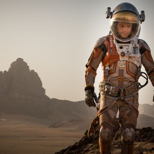 In the new sci-fi blockbuster The Martian, Matt Damon plays botanist Mark Watney, who gets stranded on Mars and survives through scientific ingenuity and derring-do. Photo by Aidan Monaghan