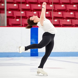Naomi Winkleman (CAS'17) during the BU Figure Skating Club practice