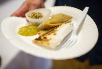 The Precolonial Aztec group served up amaranth treats and tamales with a tomatillo sauce.