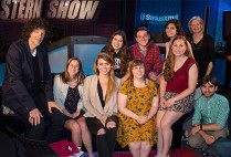 Members of Boston University student radio station WTBU with Howard Stern in the Howard Stern Show studio