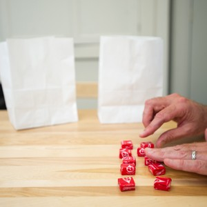 Starburst candy are used in study on sharing