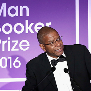 Author Paul Beatty receiving the Man Book Prize