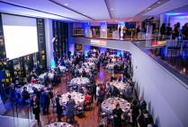 view of 300 people at the State Room for a gala