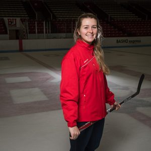 Portrait of Boston University women's hocket co-captain Alexis Crossley