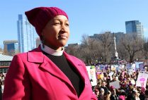 Rev. Mariama Hammond-White at the Boston Women's March for America