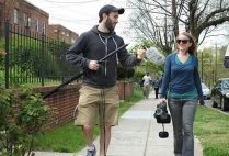 Director Brandon Kramer and director of photography Ellie Walton on location in Washington, D.C.