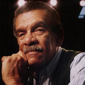 Nobel Laureate poet Derek Walcott poses for a portrait at the Boston Playwrights' Theatre in 1993