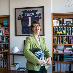 Maureen O'Rourke, Boston University School of Law Dean, in her campus office