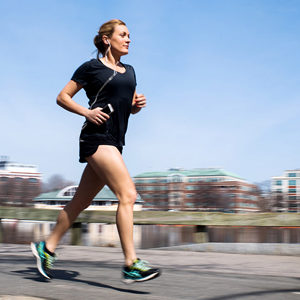 Rachel Blauner, a former captain of the BU women's soccer team, will be competing in her first 26.2-mile race when she runs the 121st Boston Marathon Monday.