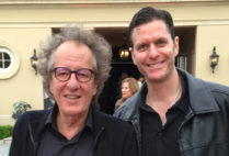 Sam Sokolow with Genius star Geoffrey Rush