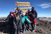 Students from BU and other schools reached the summit of Mount Kilimanjaro early Sunday morning local time. They made the climb to raise money for a children's cancer charity.