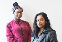 Researchers Melissa Maharaj and Chaurice McMillan who participated in a study about stress in the lives of urban youth of color.