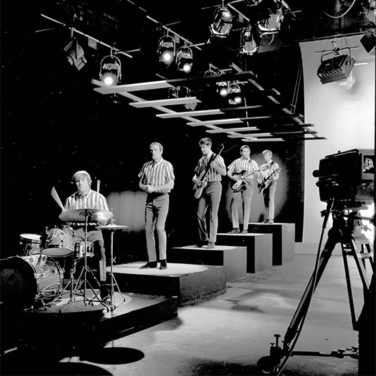 The Beach Boys perform on television in 1964