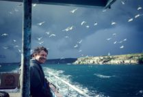 Ted Davis embarks on a birding trip out of Sydney Harbour in 1982.Ted Davis embarks on a birding trip out of Sydney Harbour in 1982. Photo courtesy of Ted Davis
