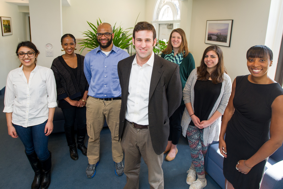 Scott Seider, associate professor of education at Boston University School of Education, with his teaching critical consciousness research team colleagues from Harvard University and Simmons College