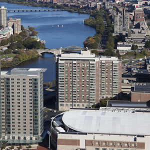 Aerial image of Boston University Campus during October 2010.  Photo by Alex S. MacLean