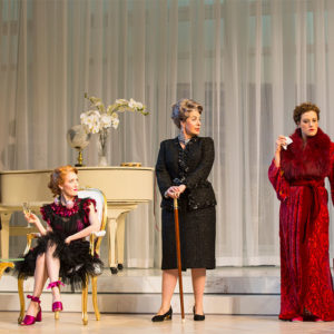 Paula Plum and cast perform in Tartuffe