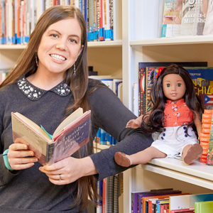 Tessa Croker, a PhD student in BU's American and New England Studies Program, recently joined iconic doll company American Girl, where she ensures the historical accuracy of its products.