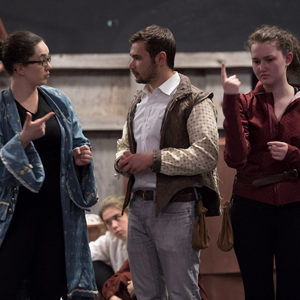 A BU Shakespeare Society Dress Rehearsal for Rosencrantz and Guildenstern Are Dead.