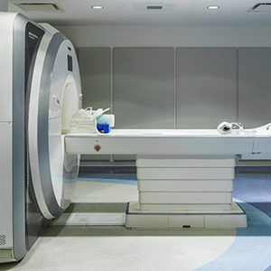 View of the Siemens Prisma 3 Tesla MRI scanner in the Cognitive Neuroimaging Center at the Rajen Kilachand Center for Integrated Life Sciences and Engineering
