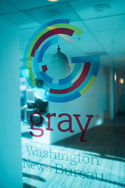 Entrance to the Gray Television Washington News Bureau.