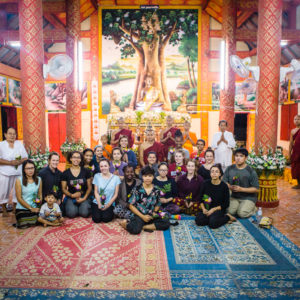 Sargent College of Health & Rehabilitation Sciences students attended a ceremony at a Baan Kway Buddhist temple in the province of Chiang Rai during their service learning trip to Thailand.